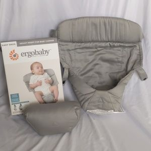NWT Ergobaby Easy Snug Infant Insert, Grey